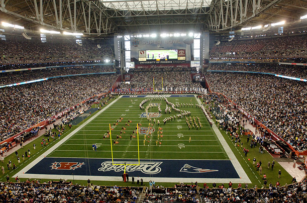 super bowl stadiums stadiums of pro football. Black Bedroom Furniture Sets. Home Design Ideas